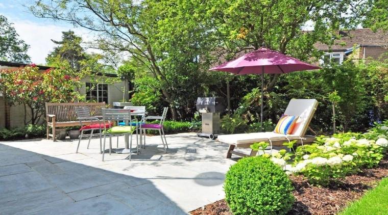Want to spruce up your backyard? backyard, courtyard, estate, garden, home, landscape, landscaping, neighbourhood, outdoor furniture, outdoor structure, patio, property, real estate, walkway, yard, green