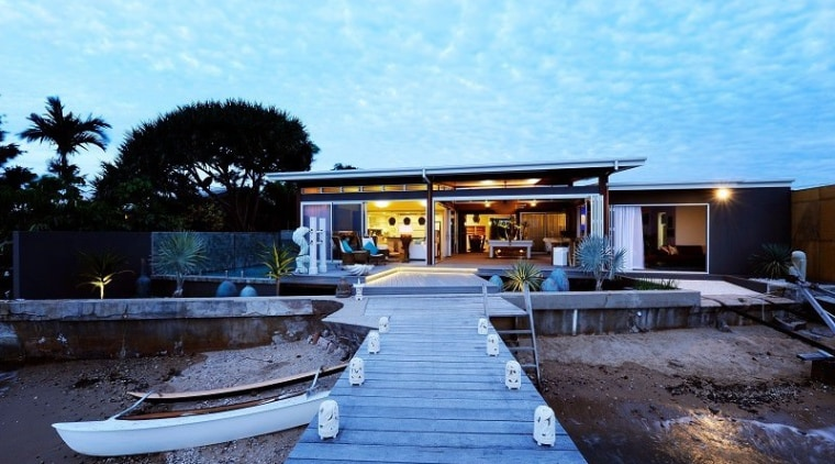 Beach house tips from the best architecture, estate, home, house, property, real estate, reflection, sky, swimming pool, villa, water, teal