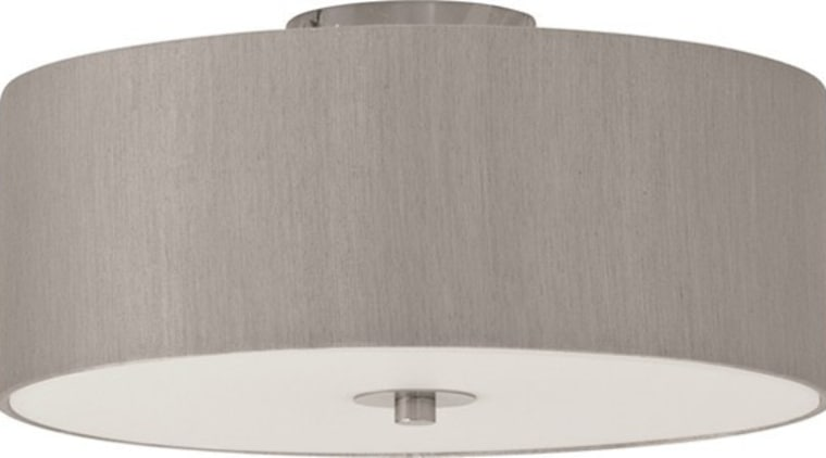 FeaturesThe Candice close to ceiling shade complements the ceiling fixture, lighting, lighting accessory, product design, gray, white