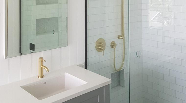 A marble border in the shower floor is bathroom, bathroom accessory, bathroom cabinet, plumbing fixture, room, tap, tile, gray