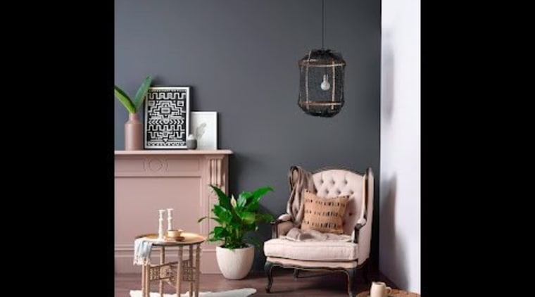 Monochromatic colour schemes have always been popular and chair, furniture, home, interior design, lamp, light fixture, living room, room, table, black, gray