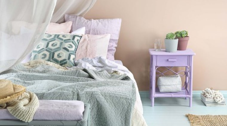 Adding soft pastel colours to your bedroom bed, bed frame, bed sheet, bedding, bedroom, cushion, duvet cover, furniture, home, interior design, linens, mattress, pillow, product, room, textile, white