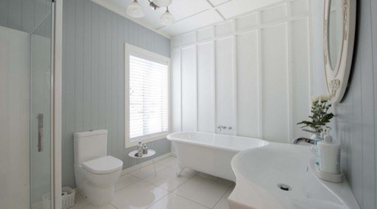 Photo by Juliet Nicholas; design by David Wraight bathroom, floor, home, interior design, property, real estate, room, window, gray