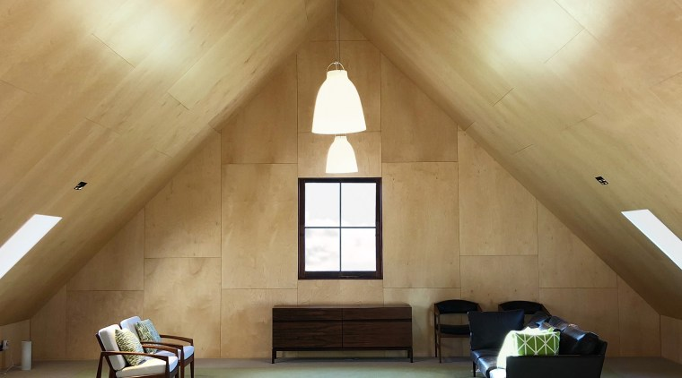 Architect: bell + co architecture architecture, attic, ceiling, daylighting, floor, home, house, interior design, property, room, wall, wood, brown, orange