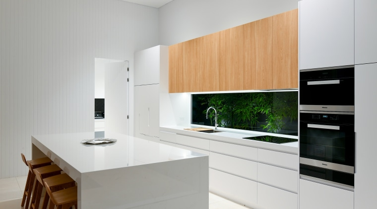 Making a splash with your splashback – this architecture, building, cabinetry, countertop, cupboard, floor, furniture, home, home appliance, house, interior design, kitchen, kitchen appliance, kitchen stove, major appliance, material property, plywood, property, real estate, room, small appliance, table, gray