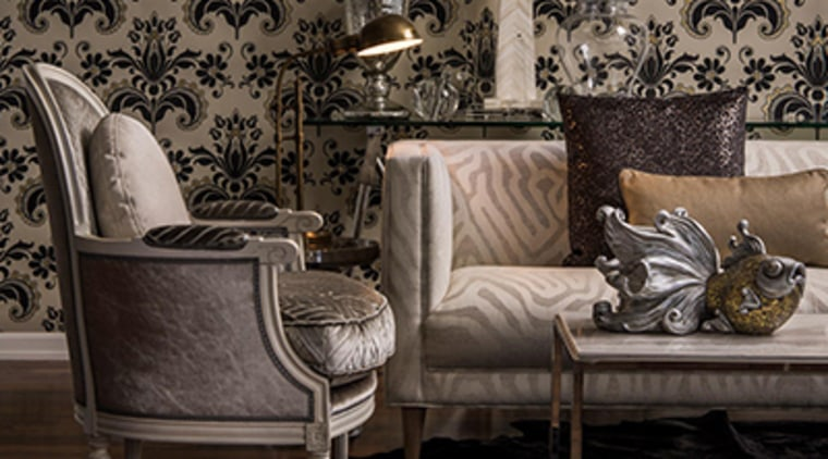 Re: decorating - chair | classic | couch chair, classic, couch, floor, furniture, interior design, living room, room, table, wall, wallpaper, black