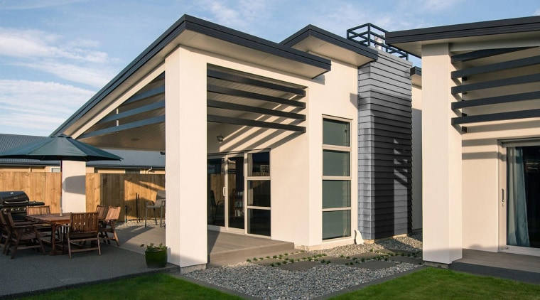 Envira timber weatherboard enhance the modern style of architecture, elevation, estate, facade, home, house, property, real estate, residential area, roof, siding