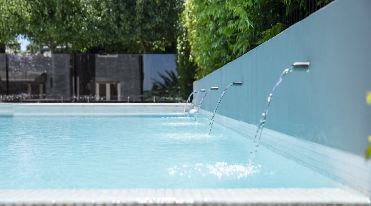 Winter Pool By Landart Landscapes Credit Jason Busch leisure, swimming pool, water, water feature, teal