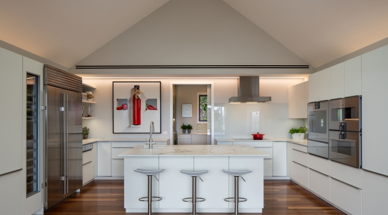 Runner-up – Damian Hannah – German Kitchens – architecture, building, cabinetry, ceiling, countertop, floor, flooring, furniture, hardwood, home, house, interior design, kitchen, property, real estate, room, table, wood flooring, gray