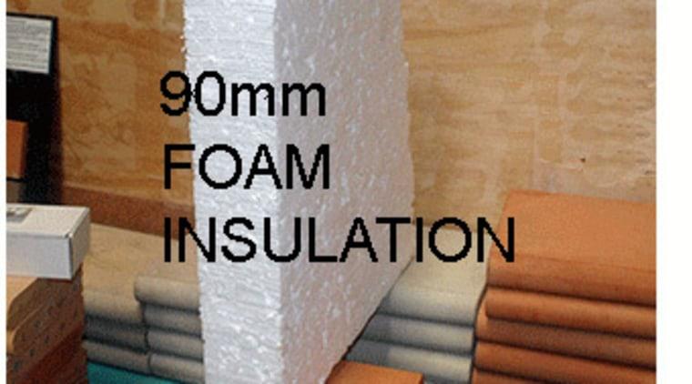 90mm INFILLFOAM beige, brick, floor, product, room, wall, wood, brown