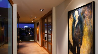 High end apartment.  Inner-city apartments. art gallery, ceiling, exhibition, interior design, lobby, tourist attraction, wall, brown