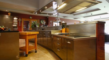 A view of a kitchen by Fyfe Kitchens. countertop, cuisine classique, interior design, kitchen, brown