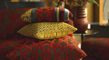 Vibrant performance – Macroseuede from Warwick Fabrics orange, textile, yellow, red