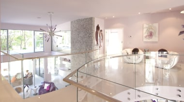 Tempershield® curved toughened glass from Glasshape was specified apartment, architecture, countertop, estate, home, house, interior design, kitchen, property, real estate, room, table, gray