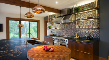 Natalie Du Bois kitchen evokes the textured look ceiling, countertop, home, interior design, kitchen, living room, real estate, room, brown