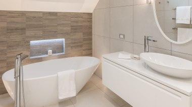 2016 Tida New Zealand Designer Bathroom 5 bathroom, bathroom sink, bidet, floor, interior design, plumbing fixture, property, room, sink, tap, tile, toilet seat, gray