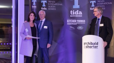 2017 Tida New Zealand Kitchens Event26 award, communication, presentation, public relations, suit, technology, purple