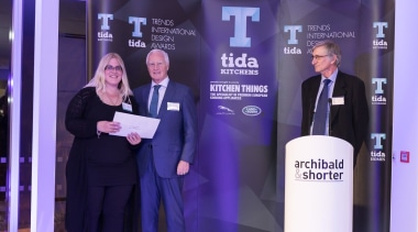 2017 Tida New Zealand Kitchens Event27 award, communication, energy, presentation, public relations, technology, purple