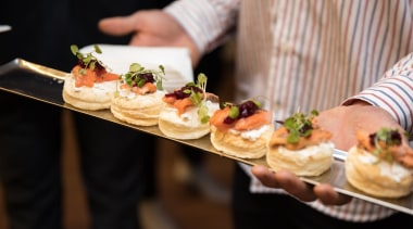 2017 Tida New Zealand Kitchens Event6 appetizer, breakfast, brunch, canapé, cuisine, dish, finger food, food, hors d oeuvre, meal, pincho, black, brown