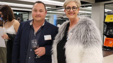 2018 Tida New Zealand Kitchens Awards Event 41 fashion, fur, fur clothing, outerwear, socialite, textile, black, white