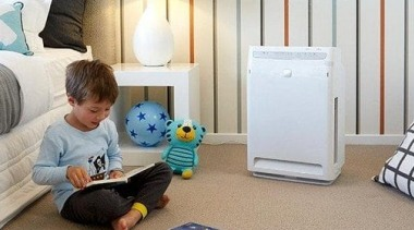 Air Purifiers baby products, bed, child, floor, flooring, furniture, nursery, play, product, room, technology, toddler, gray, white