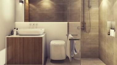 Bathroom Heating bathroom, floor, flooring, interior design, plumbing fixture, room, sink, tile, wall, wood flooring, brown, orange