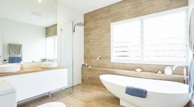 Craig Farrugia Building Design – Highly Commended – architecture, bathroom, floor, home, interior design, real estate, room, white