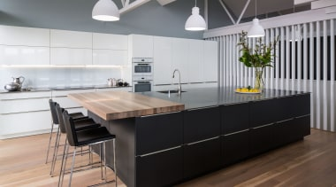Damian Hannah Header Hero cabinetry, countertop, cuisine classique, floor, interior design, kitchen, product design, gray