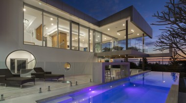 Highly Commended – 2016 Tida Australian Designer New apartment, architecture, building, condominium, daylighting, estate, home, house, interior design, lighting, mixed use, property, real estate, residential area, swimming pool, window, gray, blue