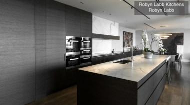 Highly Commended – Robin Labb Kitchens – Tida countertop, floor, flooring, interior design, kitchen, black, gray
