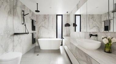 Lsa Architects – Winner – Tida Aus 2017 architecture, bathroom, floor, flooring, home, interior design, plumbing fixture, room, tap, tile, gray