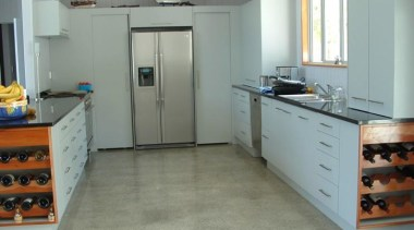 Longbeach Home 2 cabinetry, countertop, floor, flooring, hardwood, kitchen, room, tile, gray