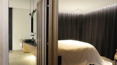 Mark Frazerhurst Architects – Winner – Tida NZ bedroom, furniture, interior design, lighting, room, suite, window, gray, black