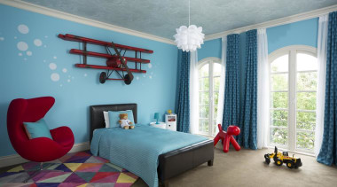 Kids Bedroom bedding, bedroom, blue, ceiling, home, interior design, living room, real estate, room, textile, wall, window, gray, teal