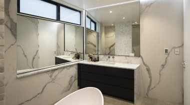 Matter Architects – Highly Commended – Tida NZ bathroom, interior design, real estate, room, gray
