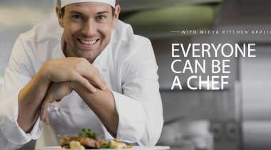 Midea Appliances Header Hero chef, cook, cuisine, food, personal chef, professional, gray