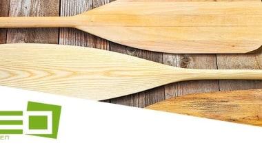 Neo By Classen cutlery, spoon, wood, wooden spoon, orange, white