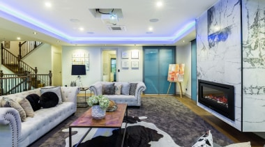 Lap of luxury – the first-floor living zone ceiling, home, interior design, living room, real estate, room, gray
