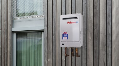 Paloma Continuous Flow Gas Water Heating Systems door, window, gray