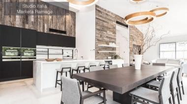 Runner Up – Studio Italia Marketa Ramage – countertop, dining room, interior design, kitchen, table, white