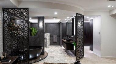 Sublime Architectural Interiors – Winner – Tida Aus ceiling, floor, interior design, lobby, room, gray, black