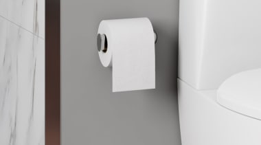 Toto Roll Holder 1 0005507 angle, bathroom accessory, plumbing fixture, tap, toilet seat, white, gray