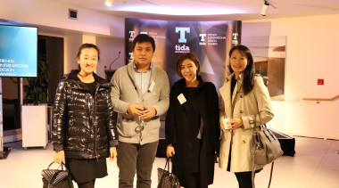 Trenz Group Cherie Ma John Zhao Elena Wang fashion, public relations, socialite, orange