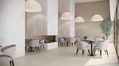 Universal Granite And Marbles Showroom 6 architecture, chair, floor, flooring, furniture, interior design, table, tile, gray