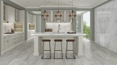 Universal Granite And Marbles Showroom 7 cabinetry, countertop, cuisine classique, floor, flooring, furniture, hardwood, interior design, kitchen, laminate flooring, room, table, tile, wood flooring, gray