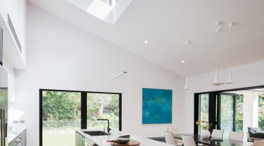 Winner – Bijl Architecture architecture, ceiling, daylighting, estate, house, interior design, living room, property, real estate, window, gray, white