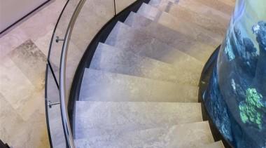 Zorzi Homes architecture, daylighting, floor, flooring, glass, handrail, stairs, gray, teal