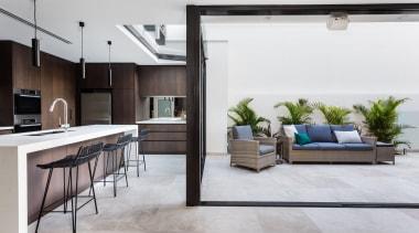 Arc Seven 1 – Highly Commended – 2018 floor, flooring, interior design, living room, white, gray