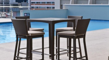 RAK Stone series outdoor tiles here in 600x900x20mm chair, furniture, outdoor furniture, table, gray