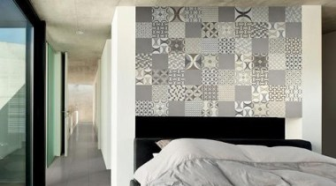 Mix Cementine 200x200 architecture, bed frame, ceiling, floor, interior design, wall, window, gray